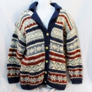 Other - NEW Wool Knit Ski Holiday Nordic Cardigan Sweater